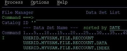 File Manager to get record count of VSAM
